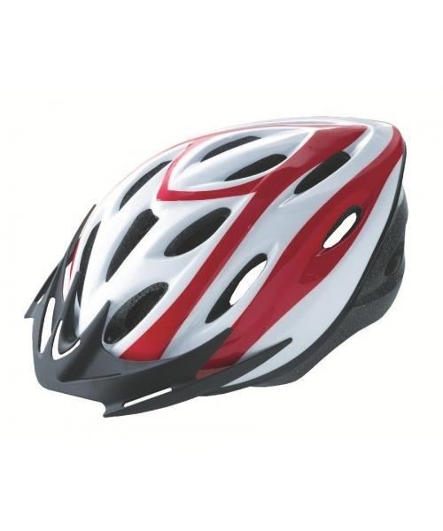 Casca Rider Alb/Rosu Marime M (54-58cm)