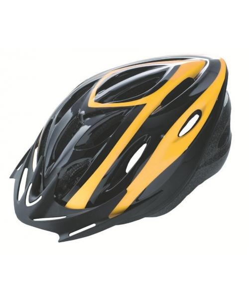 Casca Rider Culoare Negru/Galben Marime L (58-61cm)