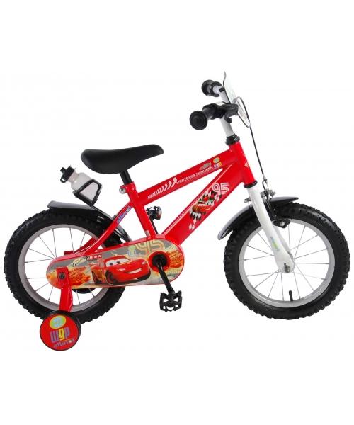 Bicicleta pentru copii Disney Cars - Baieti - 14 inch - Rosu culoare Rosu