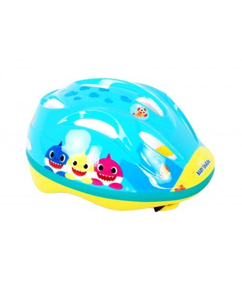 Casca copii pentru bicicleta baby shark, marime 51-55 cm , culoare albastru / galben