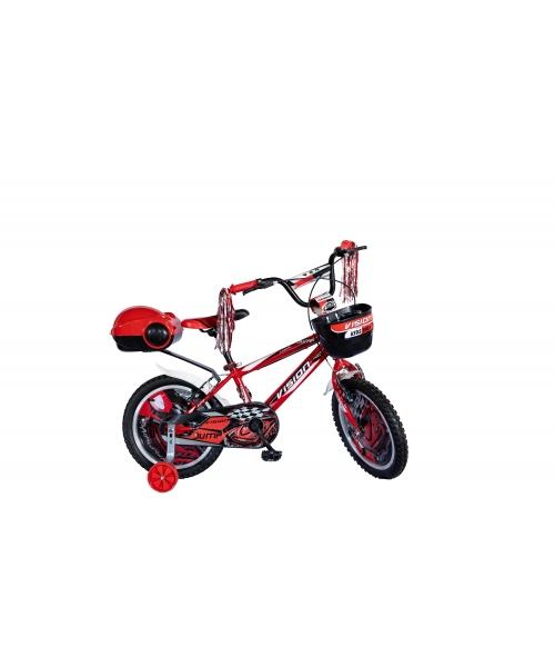 """Bicicleta Copii Vision Jump Culoare Rosu/Negru Roata 16"""" Otel"""