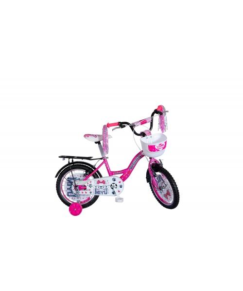 "Bicicleta Copii Vision Miyu Culoare Roz/Alb Roata 16"" Otel"