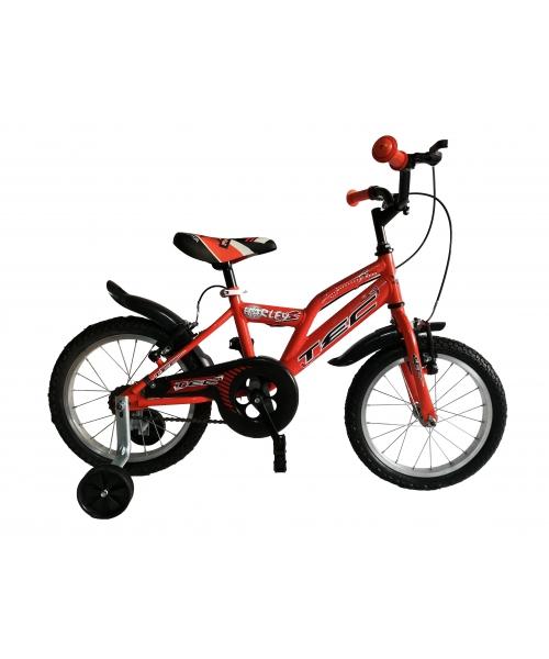 """Bicicleta Copii TEC Harley Culoare Portocaliu Roata 16"""" Otel"""