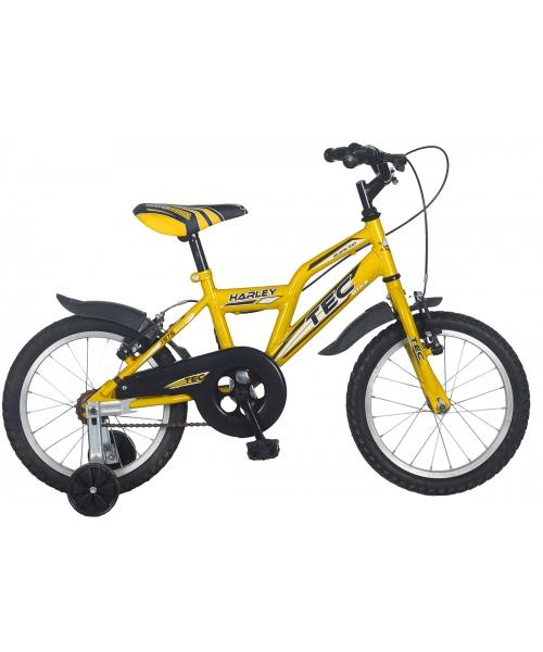 "Bicicleta Copii TEC Harley Culoare Galben Roata 16"" Otel"