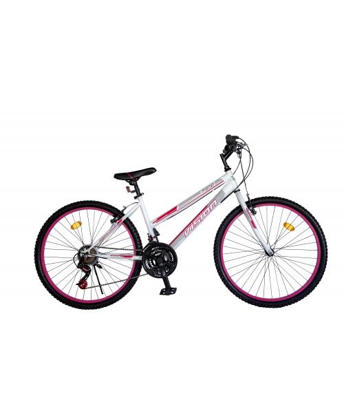 "Bicicleta MTB Dame Vision Venus Culoare Alb/Roz Roata 24"" Otel"