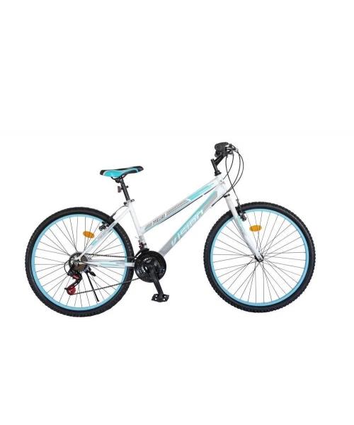 """Bicicleta MTB Dame Vision Venus Culoare Alb/Albastru Roata 24"""" Otel"""