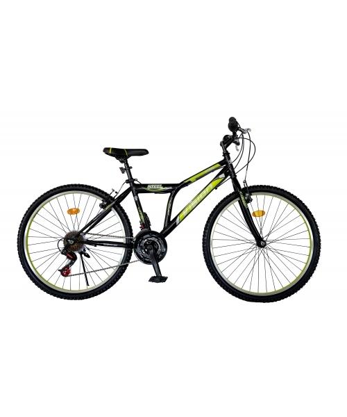 """Bicicleta MTB Vision Steel Man Culoare Negru/Verde Roata 26"""" Otel"""
