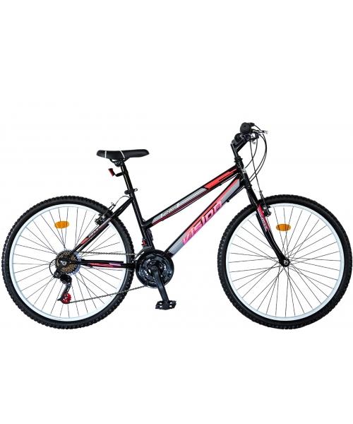 """Bicicleta MTB Dame Vision Venus Culoare Negru/Roz , Roata 26"""" Otel"""