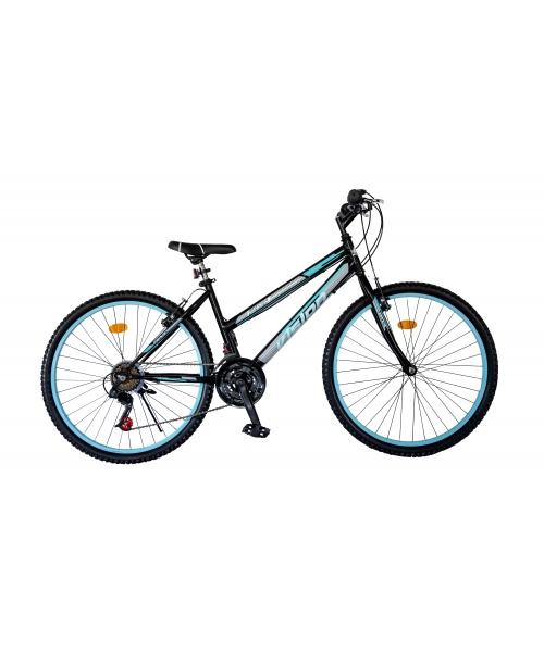 """Bicicleta MTB Dame Vision Venus Culoare Negru/Albastru Roata 26"""" Otel"""