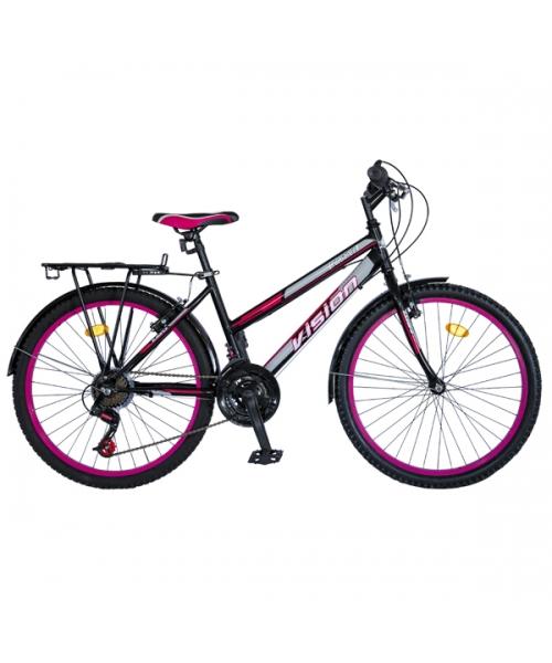 """Bicicleta MTB Dame Vision Elegance Culoare Negru/Roz Roata 24"""" Otel"""