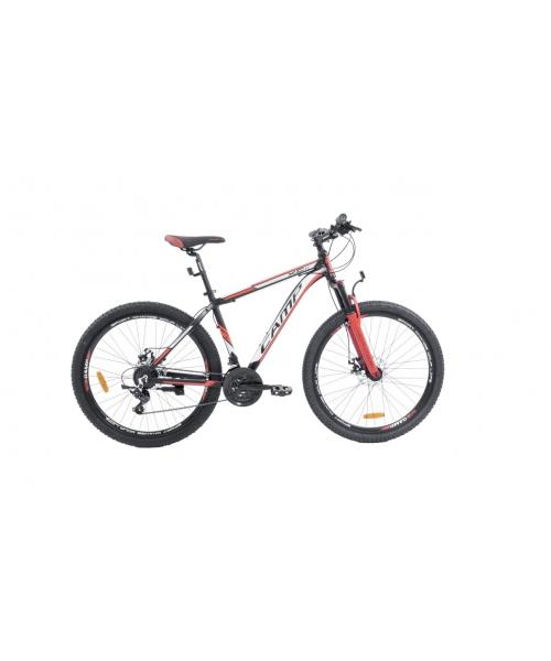 """Bicicleta MTB Camp XC 4.0, roata 26"""", aluminiu, frana mecanica pe disc, culoare rosu/negru, cadru 20"""