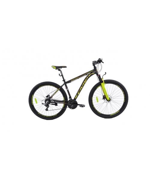"""Bicicleta MTB Camp XC 200, roata 27.5"""", aluminiu, frana pe disc hidraulica, culoare galben/negru, cadru 20"""""""