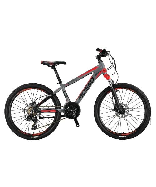 """Bicicleta Mosso Wildfire M-24- HYD - 13 , Roata 24"""" , Aluminiu , Culoare gri/rosu"""