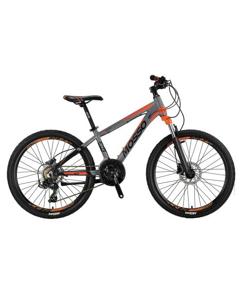 """Bicicleta Mosso Wildfire M-24- HYD - 13 , Roata 24"""" , Aluminiu , Culoare gri/portocaliu"""