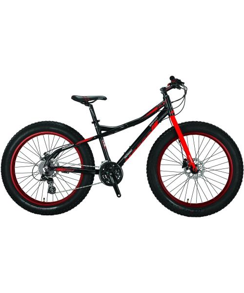 """Bicicleta Mosso FatBike Hidraulic, Roata 26"""", Cadru Aluminiu, Culoare negru/rosu"""