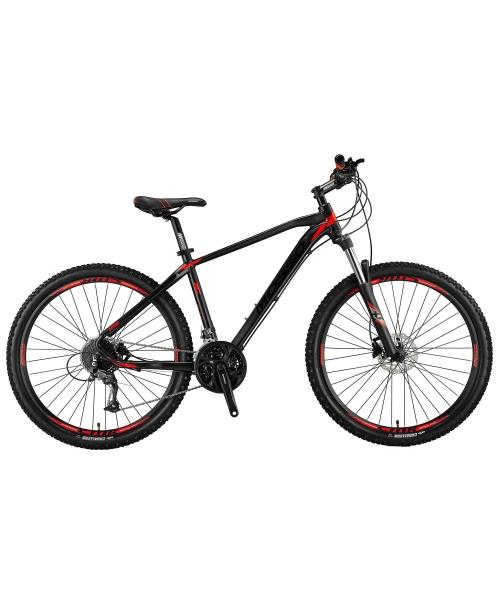 "Bicicleta MTB Mosso Black Edition Hidraulic , Roata 27.5"" , Altus + Alivio , Cadru 20, Culoare negru/rosu"