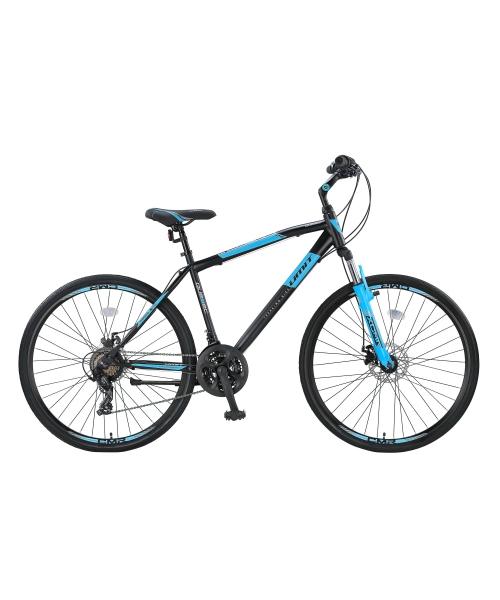 """Bicicleta Trekking Umit Quebec -M -2D-21-SHM, Roata 28"""", Otel , Cadru 18"""" 460mm, Culoare negru/albastru"""
