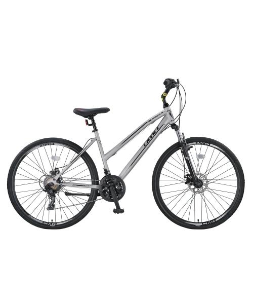 """Bicicleta Trekking Umit Quebec -L -2D-21-SHM, Roata 28"""", Otel , Cadru 430mm, Culoare gri/negru"""