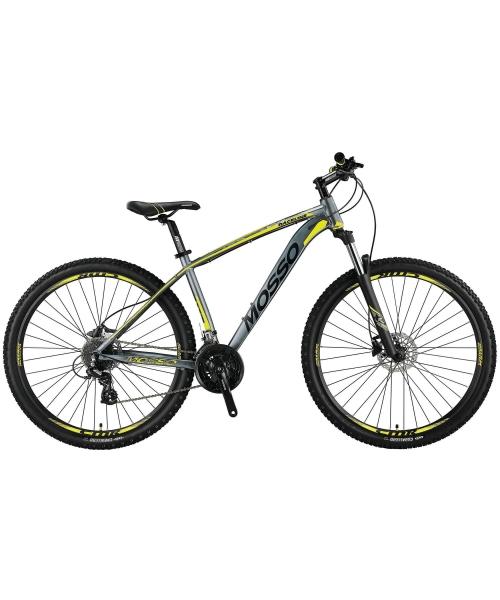 """Bicicleta MTB Mosso Raceline Hidraulic , Roata 29"""" , Altus 24 , Cadru 16 , Culoare Gri/Lime"""