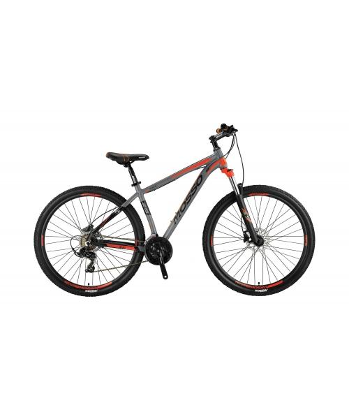"""Bicicleta MTB Mosso Wilffire LDT Hidraulic, Roata 29"""" Altus, Cadru 18"""" culoare gri/portocaliu"""