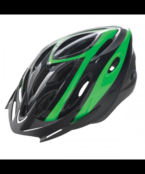 Casca Rider Culoare Negru/Verde Marime L (58-61cm)