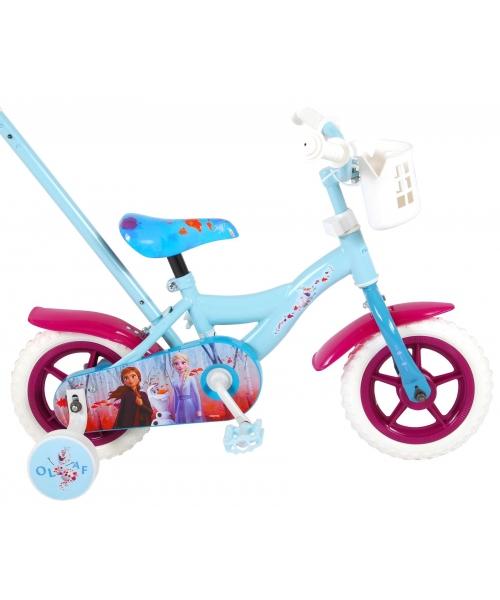 Bicicleta pentru fete, Disney Frozen 2,10 inch, culoare Albastru/Violet, fara frane