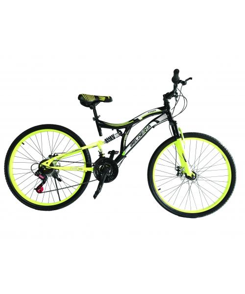"Bicicleta MTB Full Suspensie Vision Kings 2D Culoare Negru/Verde Roata 24"" Otel"