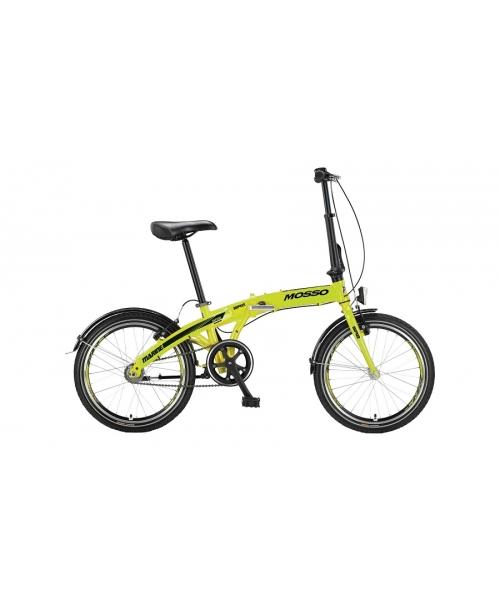 """Bicicleta Mosso Marine SR2 12 pliabila cadru aluminiu roata 20"""" culoare lime cu schimbator in butuc"""
