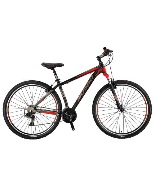 "Bicicleta MTB Mosso Wildfire M , Roata 29""- V , Tourney , Cadru 16"", Culoare Negru/Rosu"