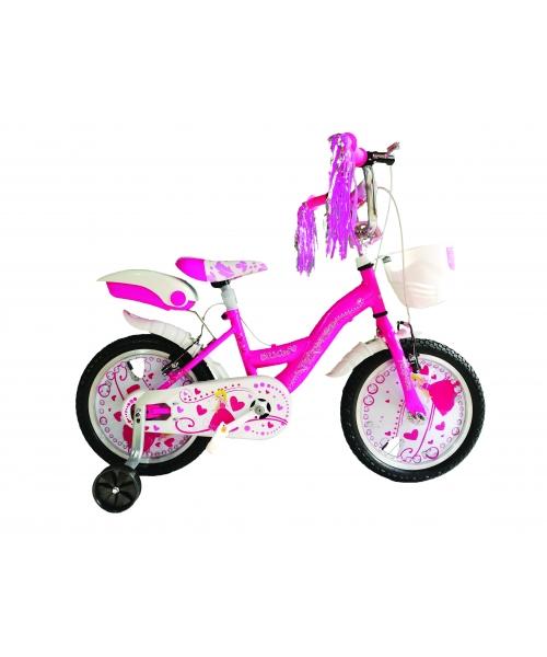"""Bicicleta Copii Vision Princesse Culoare Roz Roata 16"""" otel"""