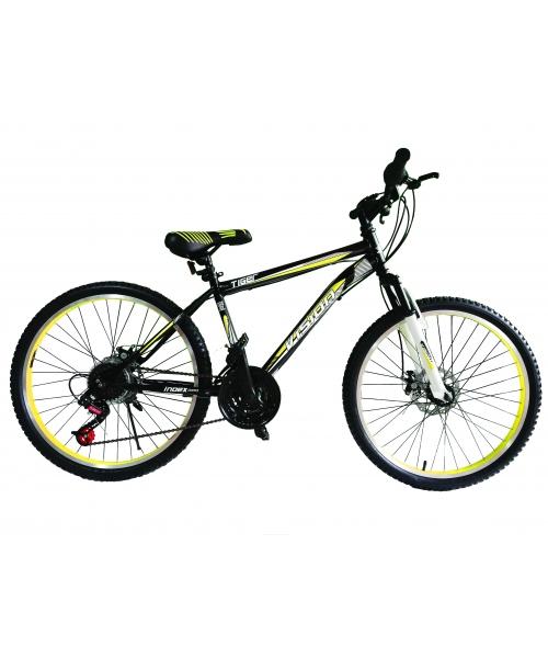 """Bicicleta MTB Vision Tiger 2D Suspensie Fata Culoare Negru/Galben Roata 26"""" Otel"""