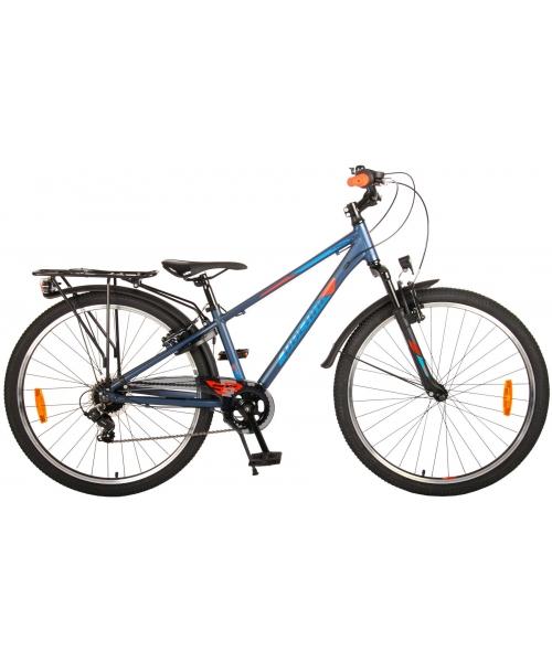 Bicicleta Volare Cross pentru copii - Baieti - 26 inch - Albastru inchis - 7 trepte - Prime Collection culoare Albastru