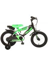 Bicicleta pentru baieti Volare Sportivo, 14 inch, culoare Negru/Verde neon, frana de mana fata - spate