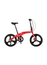 """Bicicleta Mosso Marine 2D-7V-12- pliabila cadru aluminiu roata 20"""" culoare rosie"""