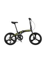 """Bicicleta Mosso Marine HYD - 7V-12 pliabila cadru aluminiu roata 20"""" culoare negru/verde"""