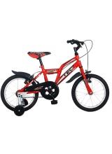 """Bicicleta copii TEC Harley, culoare rosu, roata 16"""", otel"""