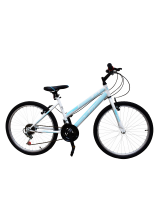 "Bicicleta MTB Copii TEC Lady culoare alb/albastru roata 24"" Otel"