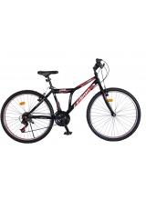 """Bicicleta MTB Vision Steel Man Culoare Negru/Rosu Roata 24"""" Otel"""