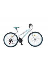 """Bicicleta MTB Dame Vision Venus Culoare Alb/Albastru Roata 26"""" Otel"""