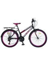 """Bicicleta MTB Dame Vision Elegance Culoare Negru/Roz Roata 26"""" Otel"""