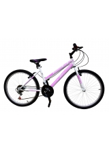 "Bicicleta MTB Dame TEC Eros , culoare Alb/Roz Roata 26"" Otel"
