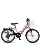 "Bicicleta city Umit Alanya, culoare lavanda, roata 20"", cadru otel"