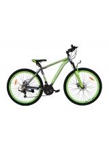 """Bicicleta MTB Camp XC 4.2, roata 29"""", aluminiu, frana mecanica pe disc, culoare gri/galben, cadru 18''"""
