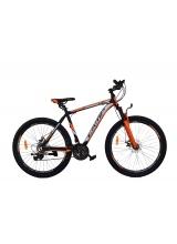 """Bicicleta MTB Camp XC 4.0, roata 26"""", aluminiu, frana mecanica pe disc, culoare portocaliu/negru, cadru 18''"""