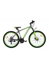 """Bicicleta MTB Camp XC 4.1, roata 27.5"""", aluminiu , frana pe disc mecanica, culoare gri/galben , cadru 18"""""""