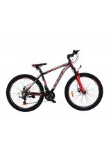"""Bicicleta MTB Camp XC 4.1, roata 27.5"""", aluminiu , frana pe disc mecanica, culoare roșu/negru , cadru 18"""""""