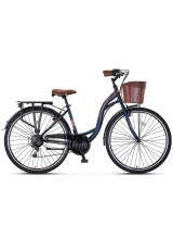 "Bicicleta City Umit Alanya, culoare Albastru/Maro, roata 28"", Otel"