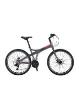 """Bicicleta Mosso Marine 2D pliabila, Aluminiu , Roata 26"""" , Culoare Gri/Roz"""