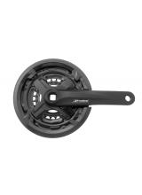 Pedalier Prowheel MTB, ax patrat, 42/34/24T, aluminiu, 170mm