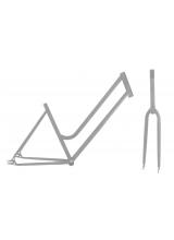 Kit Cadru+Furca Fixie Dame Otel Marime 700Cx46 Gri